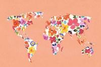 Bright World - No Words Peach Fine Art Print