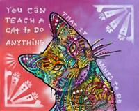 You can teach a cat Fine Art Print