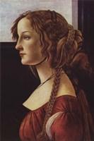 Portrait of Simonetta Vespucci Fine Art Print