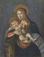 Madonna and Child with the Crown of Thorns and Three Nails Fine Art Print