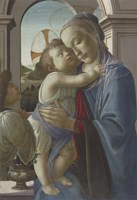 Virgin and Child with an Angel, 1475-85 Fine Art Print