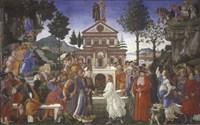 The Temptation of Christ, 1481-1482 Fine Art Print