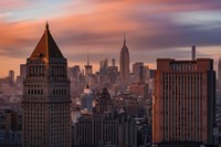 Golden Light New York Low Clouds Fine Art Print