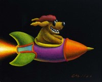 Rocket Dog Fine Art Print