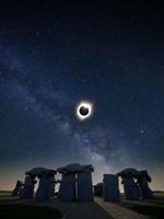 Eclipse at Carhenge Fine Art Print