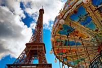 La Tour et Le Carrousel Fine Art Print
