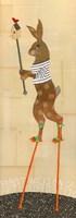 Rabbit on Stilts Fine Art Print