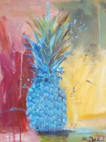 Cobalt Pineapple Fine Art Print