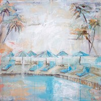 Poolside at Kahala Fine Art Print