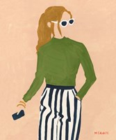 Green Mockneck Fine Art Print