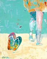 Flip Flops on the Beach Fine Art Print