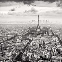 La Tour Eiffel et La Defense Fine Art Print