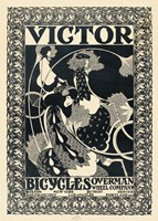 Victor Bicycles (vertical, monochrome) Fine Art Print
