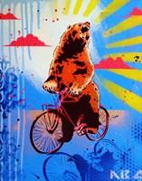 Bear Back Rider Fine Art Print