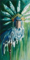Stork with Feathered Crown Fine Art Print