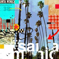 Santa Monica Signs Fine Art Print