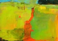 Orange Path Fine Art Print