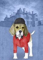 Beagle with Beaulieu Palace Fine Art Print