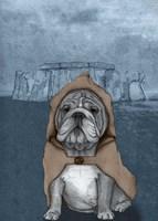 English Bulldog with Stonehenge Fine Art Print