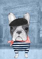 French Bulldog with Arc de Triomphe Fine Art Print