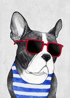 Frenchie Summer Style Fine Art Print