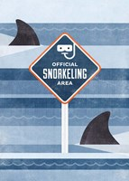 Official Snorkeling Area Fine Art Print