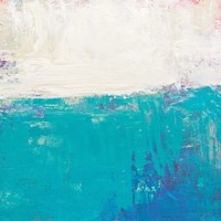 Aqua White Fine Art Print