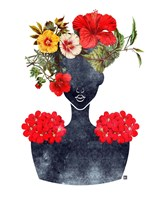 Flower Crown Silhouette I Fine Art Print