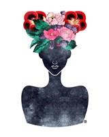 Flower Crown Silhouette II Fine Art Print