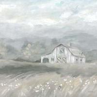 Country Meadow Farmhouse Neutral Fine Art Print