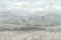 Country Meadow Landscape Neutral Fine Art Print