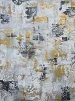 Silver Gray Gold Abstract Fine Art Print