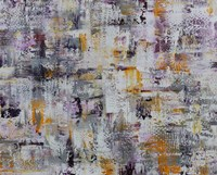 Gold Purple Grey Abstract Fine Art Print