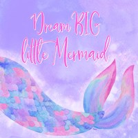 Mermaid Life I Pink/Purple Fine Art Print