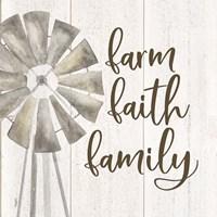Farm Life III Farm Faith Family Framed Print