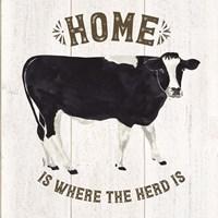 Farm Life Cow Home Herd Framed Print