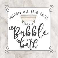 Bath Humor Bubble Bath Fine Art Print