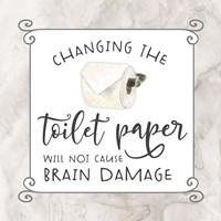 Bath Humor Toilet Paper Fine Art Print