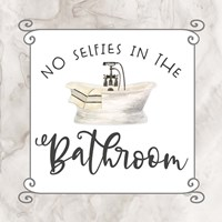 Bath Humor No Selfies Framed Print