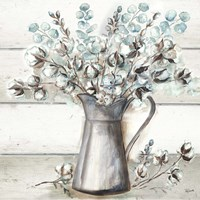 Farmhouse Cotton Tin Pitcher Fine Art Print