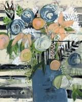 Modern Floral Stripe Fine Art Print