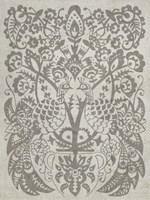 Peacock Damask I Framed Print