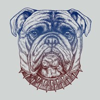 Gritty Bulldog Fine Art Print