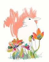 Lamb and Flowers Fine Art Print