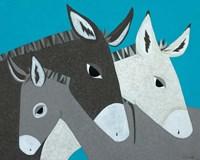 Donkey Family Fine Art Print
