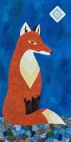 Fox Under Diamond Moon Fine Art Print