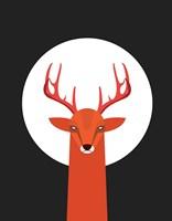 Deer & Moon Fine Art Print