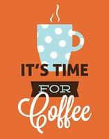 Coffee Time (Orange) Fine Art Print