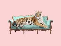 Lazy Tiger Fine Art Print