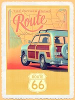 Route 66 Vintage Travel Fine Art Print
